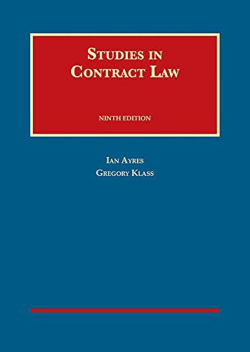 Studies in Contract Law (University Casebook Series) PDF