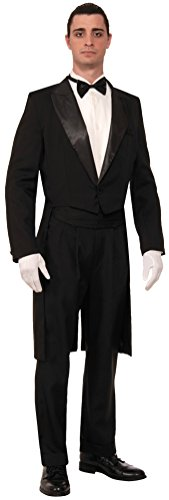 Vintage Hollywood Tuxedo Adult Costumes (Forum Novelties Men's Vintage Hollywood Formal Tailcoat Costume Tuxedo, Black, One Size)