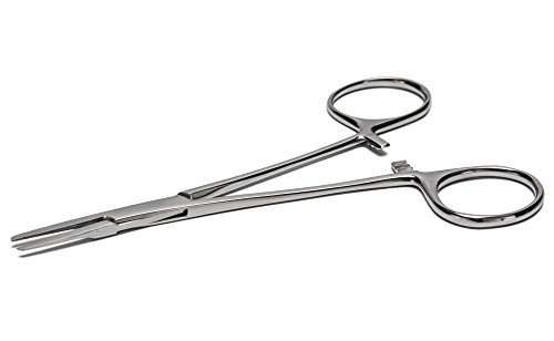 Mosquito Stainless Steel Forceps - Straight Flat Tip - 5 Inch Long