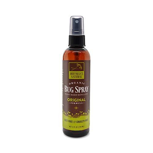 Hoffman's Natural Organic Bug Spray | 4OZ Size | 20% Active Ingredients | DEET Free Insect Repellent | Effective Against Ticks & Mosquitos (Original, 4 Oz) (Natural Tick Repellent For Humans Tea Tree Oil)