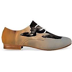 C COABALLA Horse Decor Comfortable Leather Shoes for Women,Western Wildlife Theme Friesian Horse Galloping Idyllic Sunset Scenery Pasture Decorative for Women Girls,US 11