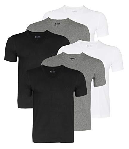 Hugo boss business shirts V-Neck men's t-Shirt 50325389pack of 6 - Multicolour - Large