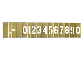 STBN20 Box Partners CH Hanson 10011 2 Brass 15 Piece Single Number Set