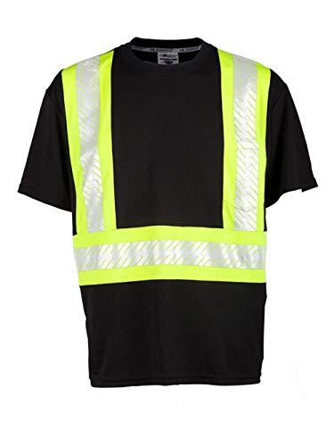 - ML Kishigo - Enhanced Visibility Contrast T-Shirt - B200-B204 - M - Black/Lime