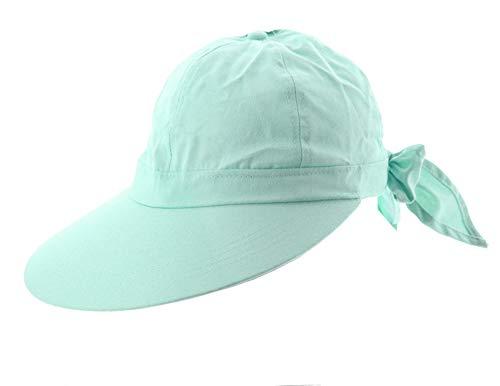 JFH Women's Classic Quintessential Sun Wide Visor Hat in Sold Bold Colors (Mint Blue)