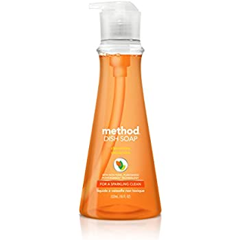 Method Dish Soap, Clementine, 18 Fl Oz (Pack of 6)