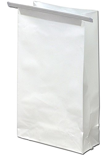 Elkay Plastics SB452585TT 3 mil Seamless Air Sickness Bag with Wire Tie Closure, 4 .5'' x 8 .5'', White (Case of 1000) by Elkay Plastics