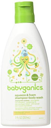 BabyGanics, Squeeze & Foam, Shampoo + Body Wash, Chamomile Verbena, 7 floz