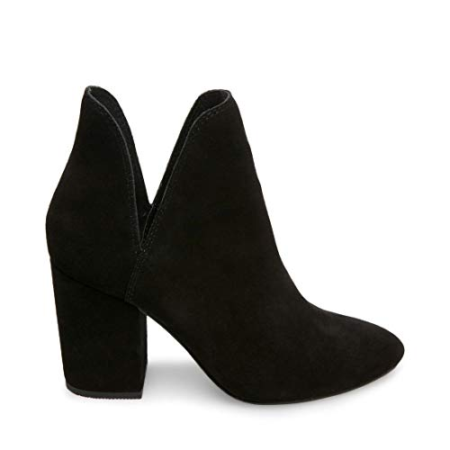 Steve Madden Women's Rookie Fashion Boot, Black Suede, 8.5 M US (Steve Madden Ankle Boots)