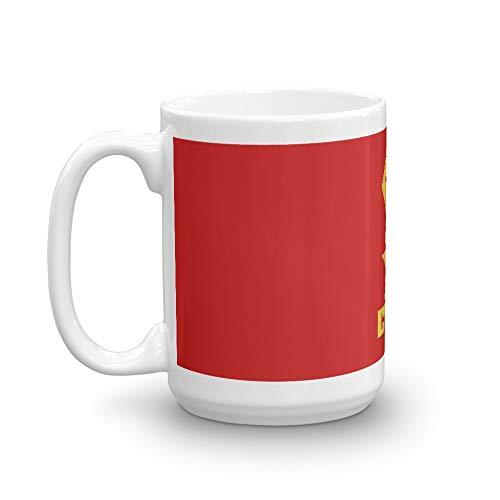 CCCP - Star Fist Yellow Mug 15 Oz White Ceramic