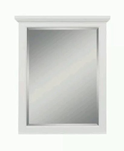 Cedar Cove 35 in. L x 28 in. W Vanity Wall Mirror in White by Simple Solution