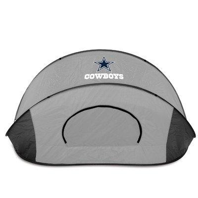 NFL Dallas Cowboys Manta Portable Pop-Up Sun/Wind Shelter, Black/Gray