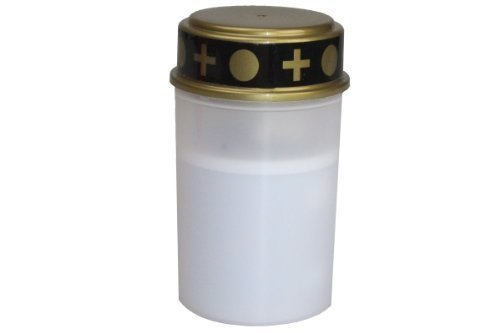 LED Grablicht Grableuchte flackerndes Kerzenschein 180 Tage rot oder weiss (Weiß)