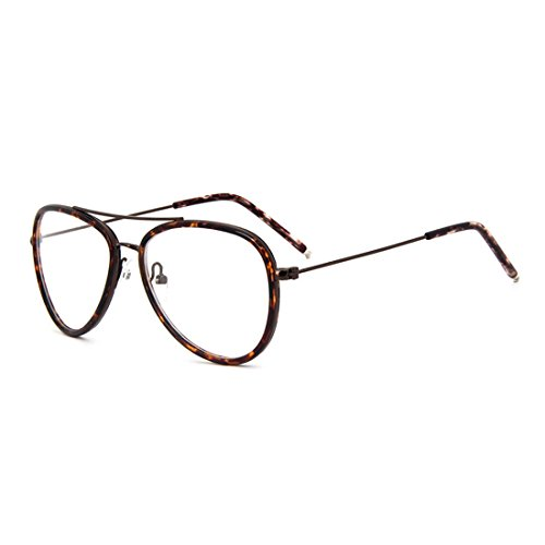 0a722863f1 D.King Classic Vintage Metal Frame Oversized Aviator Clear Lens Glasses  Eyeglasses - Buy Online in UAE.
