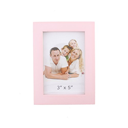 Simple Rectangular Wood Desktop Family Picture Photo Frame (Pink, - Cheap Pink Frames Picture