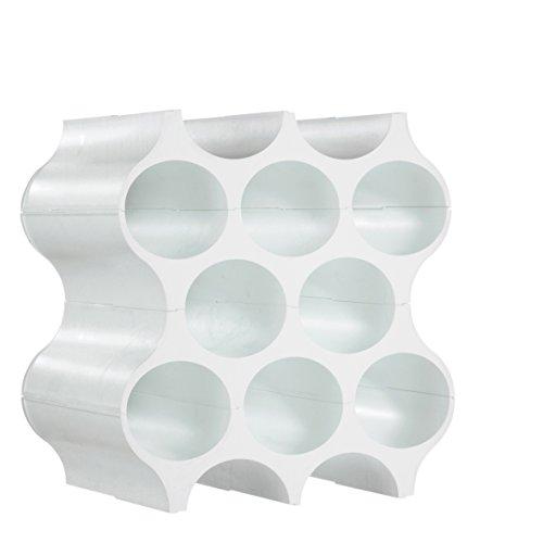 koziol Flaschenregal SET-UP, Kunststoff, solid weiß, 23 x 35,3 x 36.4 cm