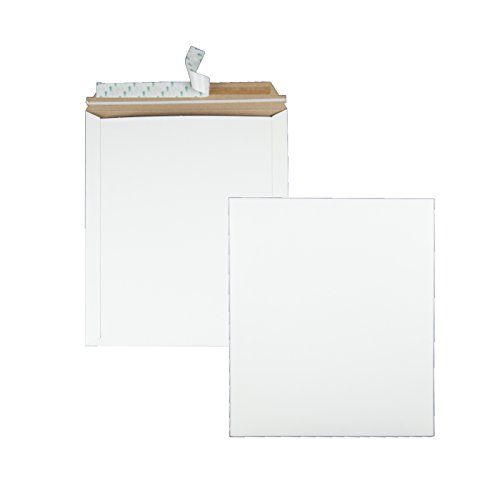 Quality Park Extra-Rigid Fiberboard Photo Document Mailers, Redi-Strip, White, 12.75x15, 25 per box (64019)