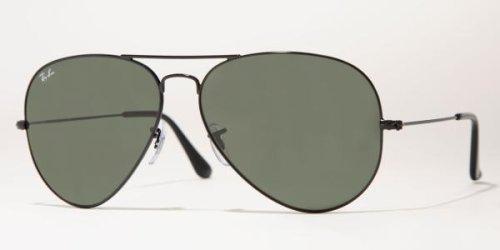 Ray-Ban Sunglasses - RB3026 Aviator Large Metal II / Frame: Black (62mm) Lens: - Aviator Ray All Black Bans