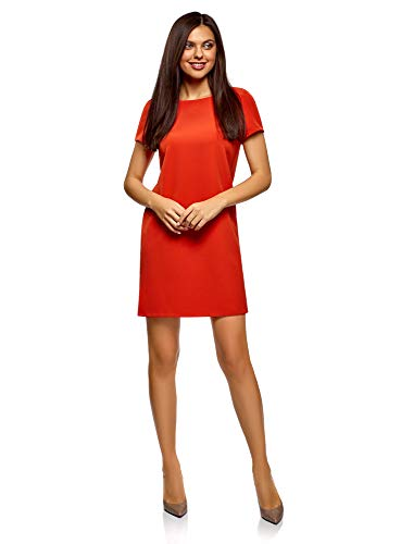 Vestido Naranja 5900n Básico Collection Mujer Recto Oodji XpEqYY