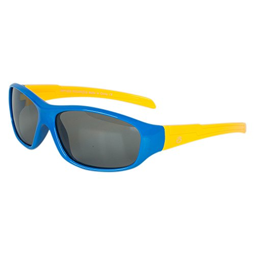 Flexible Rubber Kids Sunglasses for Boys and Girls - Bendable Unbreakable Silicone Gel Frame with Polarized Lenses - by Optix 55 (Blue & Yellow, - Beach For Sunglasses Best
