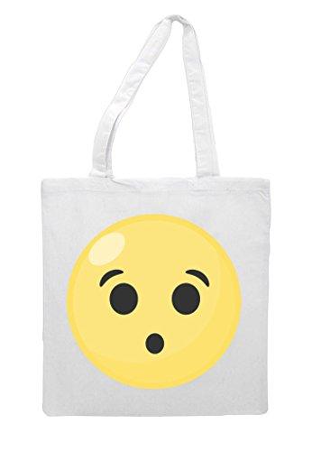Shopper Symbol Wow Tote Face Emoji White Bag wqwPUXnE