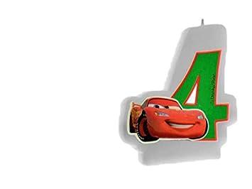 ALMACENESADAN 33539, Vela cumpleaños Disney Cars nunemo 4 ...