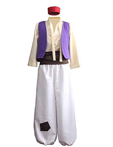 Men's Arab Prince Halloween Costume Aladdin Role-Playing Costume (M) Violet]()