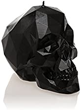 Candellana Candles Skull Poly Candle, Black High Glossy