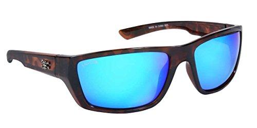 Calcutta SW1BMTORT Shock Wave Sunglasses, Tortoise Frame/Blue Mirror - Shock Sunglasses