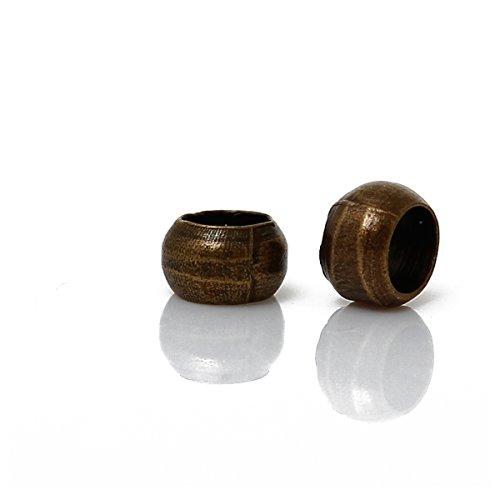 Housweety 1000 Perles a ecraser Couleur bronze 3mm