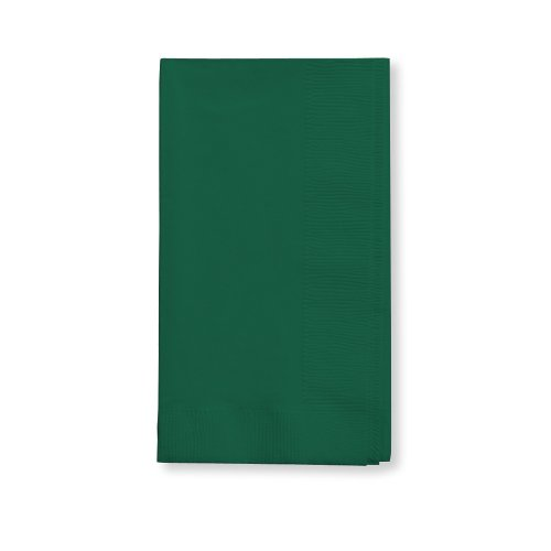 Creative Converting Touch of Color 2-Ply 50 Count Paper Dinner Napkins, Hunter Green - ()
