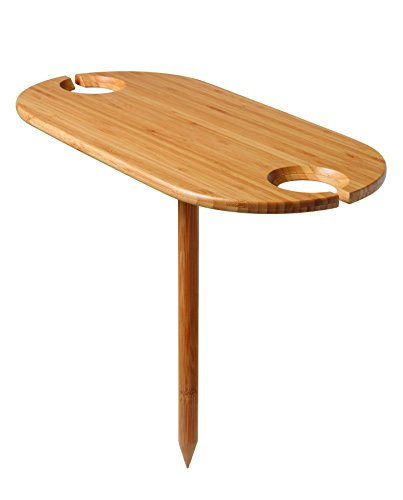 Tovolo Outdoor Wine Bamboo Table (Wine Tables compare prices)