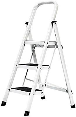 Escalera plegable taburete banqueta Escalera de tijera con manijas 3 Escaleras de tijeras de cocina compactas y de seguridad para adultos mayores, con peldaños resistentes y anchos antideslizantes, me: Amazon.es: Bricolaje y