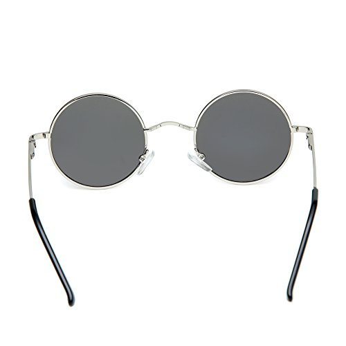0d7a6e0dac20 Joopin-Round Retro Polaroid Sunglasses Driving Polarized Sun Glasses Men  Steampunk Vintage (Silver)