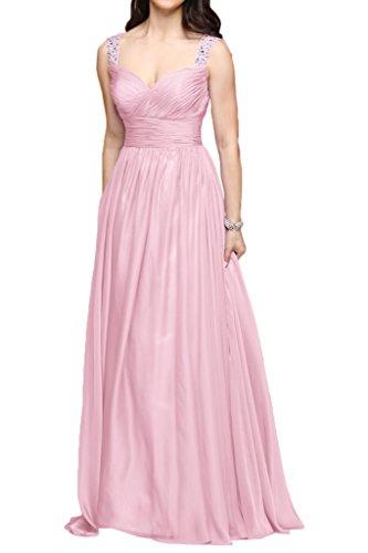 Brautjungfernkleider La Rosa Linie Lang Chiffon Orange Marie Partykleider Abendkleider Zwei Braut Traeger A SBqwYZBa