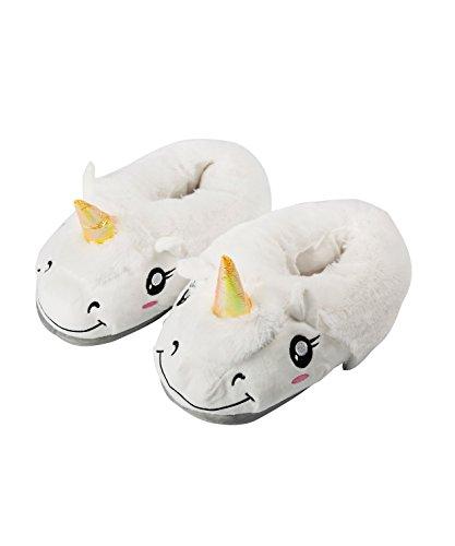 AKAAYUKO Warm Plush Sheep Slippers Household Shoes for Grown Ups,One Size , White White
