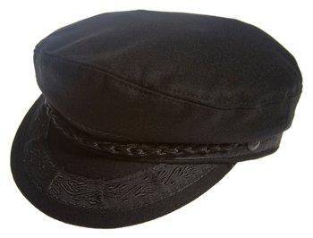 Aegean Authentic Greek Fisherman's Cap - Wool - Black - Size 53 - (6 5/8) Authentic Wool