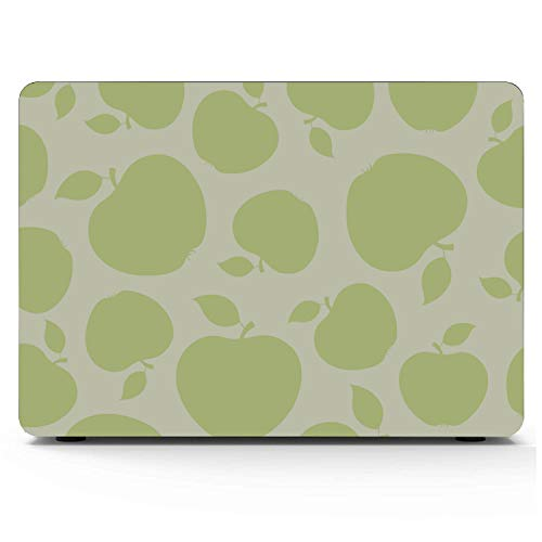 13 Inch MacBook Case Green Sweet Sour Fashion Fruit Apple Plastic Hard Shell Compatible Mac Air 11