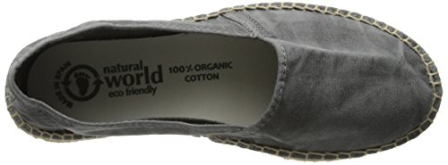 Natural Yute Grey World Camping Women's Flat CC7zqSr