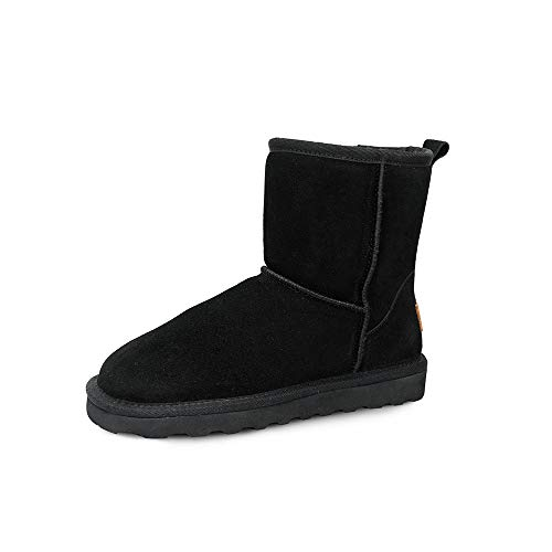 Winter Warm Cow Suede Classic Short II Boots for Women & Ladies, Women's Suede Leather Fashion Snow Boots ()