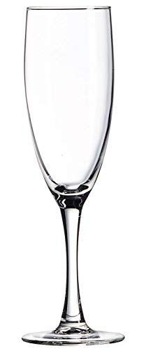 Luminarc N7582 Nuance 5.75 Ounce Champagne Flute, Set of 12, Clear