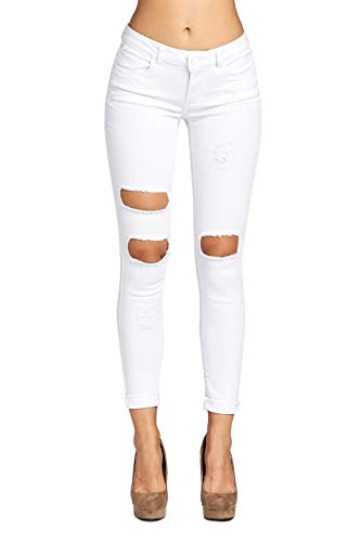 Blue Age Women's Ripped Destroyed Denim Skinny Jeans -