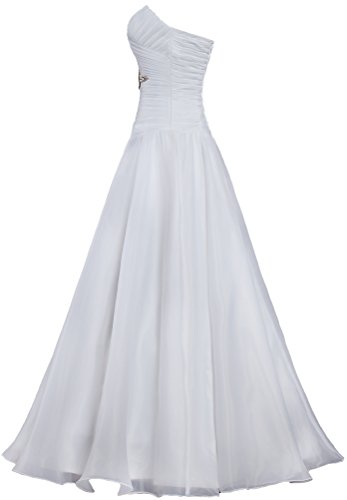Strapless for Wedding a White Organza Long Bride A Women's Dresses ANTS Line qOwP518S