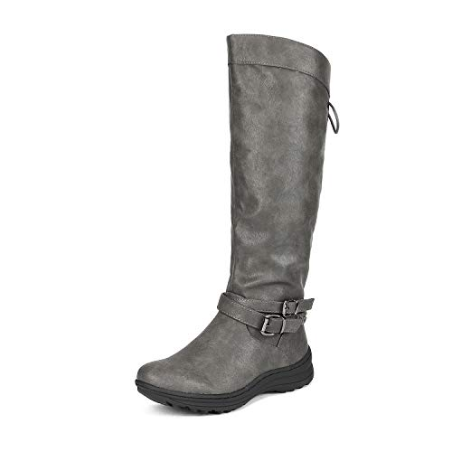 DREAM PAIRS Women's TORKA Grey Faux Fur Knee High Snow Boots Size 9 B(M) US ()