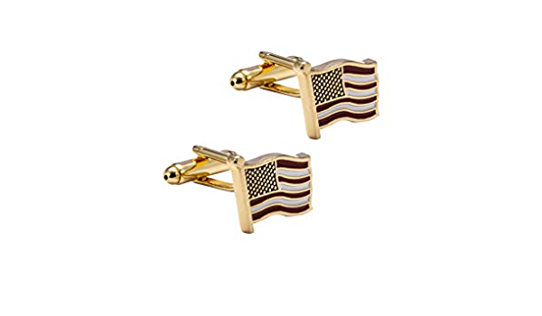 Knighthood American Flag Cufflinks Shirt Cuff Links Business Wedding Gifts with Gift Box