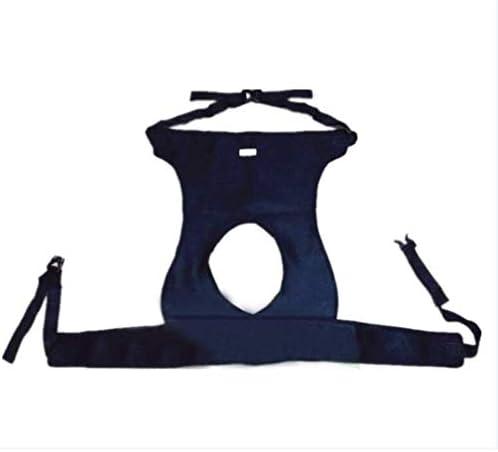 医療用車椅子滑り止め安全ストラップ、腰用通気性拘束ストラップ、大腿部固定拘束ストラップ/長さ調節可能 (黒)