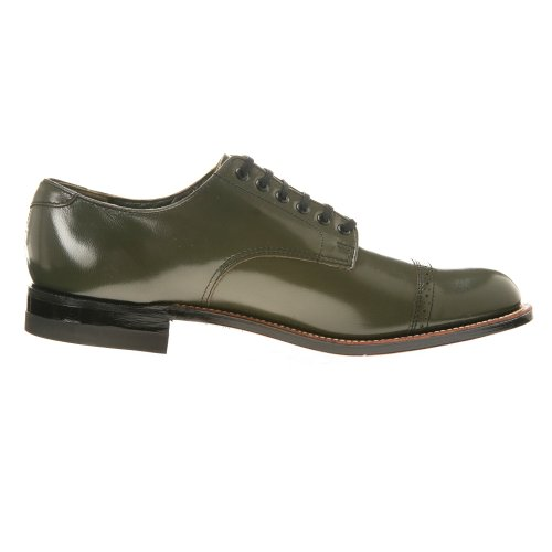Stacy Adams Mens Madison Ödla Print Oxford, 9, Oliv