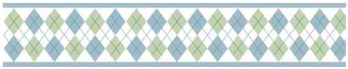 - Blue and Green Argyle Baby and Kids Wall Border by Sweet Jojo Designs
