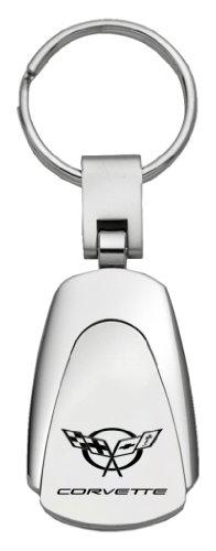C5 Corvette Laser Engraved Teardrop Keychain