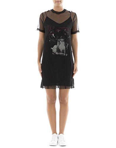 MCQ Alexander McQueen Women's 464745Rih011000 Black Polyester Dress - Alexander Mcqueen Women Dresses